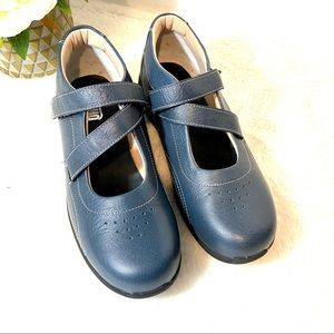 Drew Orchid Blue Comfort Velcro Mary Jane Shoes